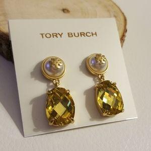 Tory Burch stone drop earrings